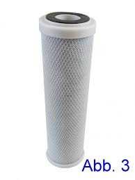 Aktivkohlefilterkerze für 4Zoll Filtergehäuse Abb. Nr. 3